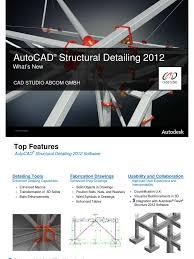 autocad structural detailing 2012 auto cad autodesk