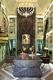 home interior brand wearstler interiors evergreen residence library