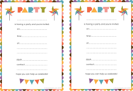 template for making birthday invitations birthday party printable invitations