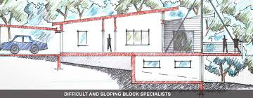 awesome slope block home designs gallery amazing design ideas