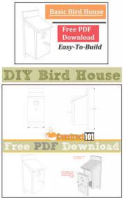 basic house plans free basic bird house plans pdf construct101