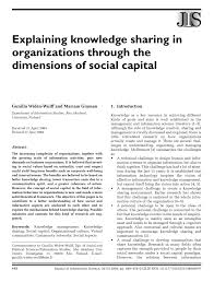 explaining knowledge sharing in organizations through the