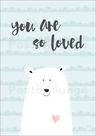 kinderzimmer poster m you are so loved mint poster bestellen posterlounge