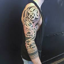 90 tribal sleeve tattoos for men manly arm design ideas