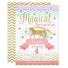party invitation magical rainbow unicorn birthday party invitation zazzle