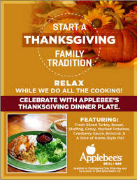 thanksgiving dinner special at applebee s grill bar the bronx