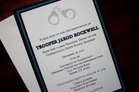 Invitation Card Graduation Party Thin Blue Line Police Academy Graduation Announcement Or