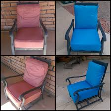 reupholstered patio cushion covers with velcro enclosures and