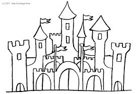 27 dessins de coloriage chateau à imprimer