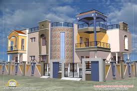 luxury indian home design with house plan 4200 sqft home portico