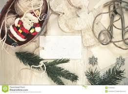 christmas preparation handmade craft christmas decorations stock