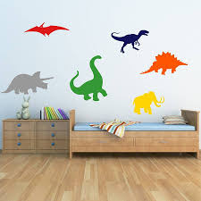 dinosaurs kids wall stickers by mirrorin notonthehighstreet com dinosaurs kids wall stickers