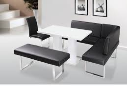 leather corner bench dining table set faux leather corner bench with white table bench pinterest