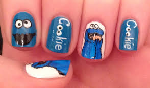 cookie monster nail art tutorial request youtube