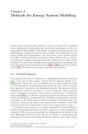 methods for energy system modeling springer