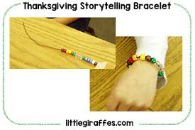 thanksgiving storytelling bracelet printable a to z