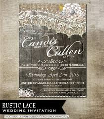 wedding invitations quincy il rustic lace wedding invitation rsvp envelope and avery label