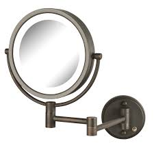 Makeup Lighted Mirror Amazon Com Jerdon Hl88cl 8 5 Inch Led Lighted Wall Mount Makeup
