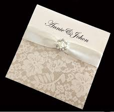 Customized Wedding Invitations Printed Wedding Invitations With A Pearl Buckle