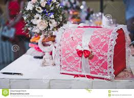 chest for gifts to the newly married 2343 stock image