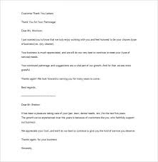 sle business thank you letter 10 free sle exle format