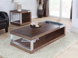 Walnut Coffee Table Walnut Coffee Table With Metal Accents Coffee Tables