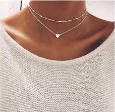 gold statement necklace jewelry images Wholesale women 925 sterling silvernecklace heart bib statement jpg