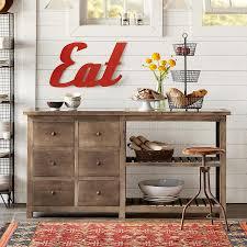 mango wood u0026 stone kitchen console robert redford u0027s sundance catalog