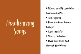 ideas for thanksgiving songs