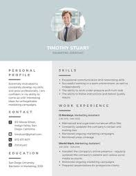 resume with picture template customize 294 professional resume templates canva