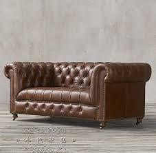 Leather Sofas Ikea Country Vintage Hasp American Wax Leather Sofa Ikea