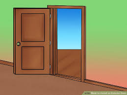 How To Replace Exterior Door How To Install An Exterior Door 14 Steps With Pictures