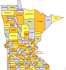 mn counties map map of minnesota cities black