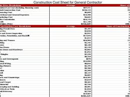 estimate spreadsheet template builders quote template free