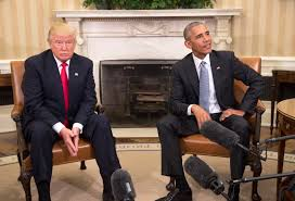donald trump the president elect and president barack obama