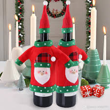 2017 new year decoration red wine bottle cover office ugly sweater