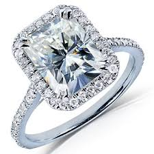 radiant cut halo engagement rings halo radiant cut moissanite engagement ring 3 00 carat