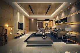 Livingroom Paintings by Modern Living Room With Grey Furniture Set And Gold Paintings 3d