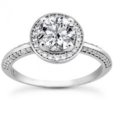 halo design rings images Raised prong halo design diamond engagement ring with double row jpg