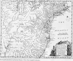 Colonial Map Of America by Map Index