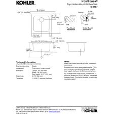 Kohler K 6625 by Kohler K 6587 Ny Iron Tones Dune Drop In Or Undermount Single Bowl