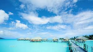 time lapse of stilt huts on water bora bora tahiti youtube