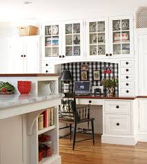 Kitchen Workstation Ideas Kitchen Desks Glass Panels And Fabric