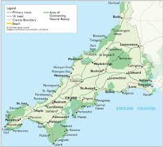 Map England by Cornwall Map Cornwall England Uk U2022 Mappery