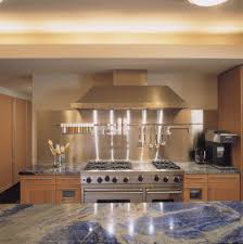Brushed Stainless Steel Backsplash by Brushed Stainless Steel Kitchen Contemporary With Shaker Door