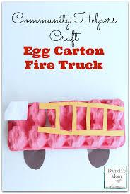 fire truck halloween basket community helpers craft egg carton fire truck jdaniel4s mom