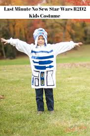 last minute no sew star wars r2d2 kids costume frugal living