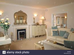 show homes interiors show home interior furnished living room stock photo royalty