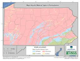 Map Pennsylvania by Pennsylvania Major Aquifer Material Types Map Usgs Water