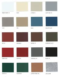 Shades Of Red Color Chart by Color Charts Mid State Metals Of The Carolinas